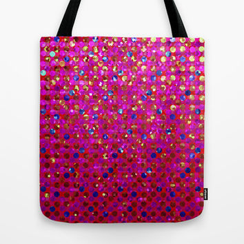 Polkadots Jewels G216 Tote Bag by MedusArt | Society6