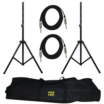 Pyle Pro Heavy-duty Pro Audio Speaker Stand & 1 And 4'' Cable Kit