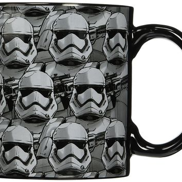 tar Wars Silver Buffalo SE0934 Disney Star Wars Ep7 Allover Trooper Faces Ceramic Mug, 20 oz, Multicolor