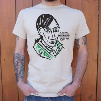 Pablo Picasso Quote Men's T-Shirt