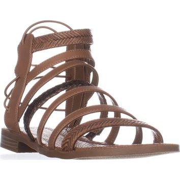 Nine West Xema Gladiator Sandals, Dark Natural Multi, 10 US