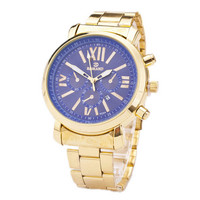 Mens Business Sports Casual Gold Strap Watches Best Christmas Gift