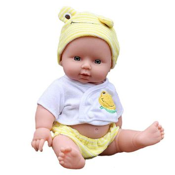 30cm Reborn Doll Soft Vinyl Lifelike Newborn Baby Speaking Toy Silicone Baby Dolls for Girls Random Color