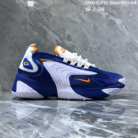 DCCK2 N1178 Nike Zoom Winflo 2000 Mid Fashion Mesh Running Shoes White Blue Orange