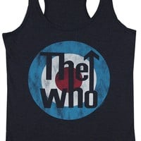 The Who Women's Target Tank Top | Vintage Classic Rock T-Shirt