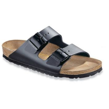 Birkenstock Classic, Arizona, Narrow Fit, Smooth Leather, Black