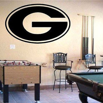 NCAA Georgia Bulldogs Logo Wall Art Decal Sticker  (245)