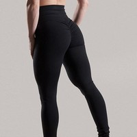 Scrunch High Waist Push Up Wicking Leggings