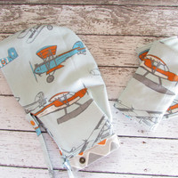 First Flight Suck Pads and Matching Hoodie Hood - Baby Wearing Tula Accessories - RTS