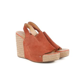 Chloe Brown Suede Wedges
