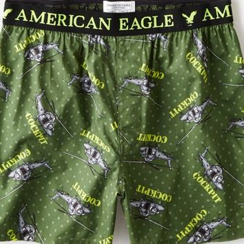 AEO Men's Helicopter Boxer (Green)