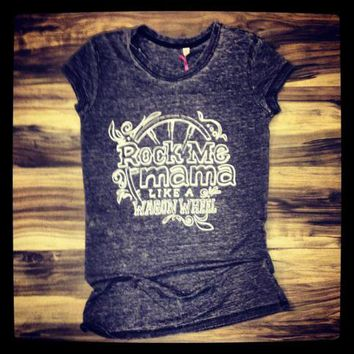 "SCTW ""Wagon Wheel"" Ladies Burnout Tshirt from SouthernCharmWear"