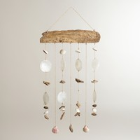 Driftwood and Seashells Mobile