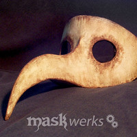 Plague Doctor mask  half faced  made to order by Maskwerks on Etsy