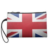 UK Sueded Mini Clutch Wristlet Clutch