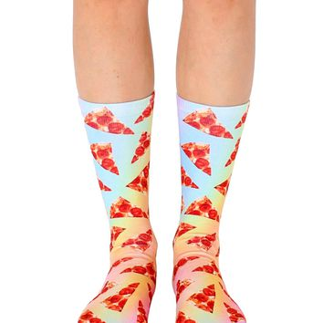 Pizza Slices Crew Socks