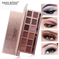 MISS ROSE  Makeup Palette Natural shimmer shine 12 Colors Eye Shadow Sombra pallete Nude Matte Eyeshadow Palette pigment
