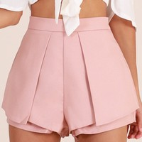 Compare The Flare shorts in blush Produced By SHOWPO