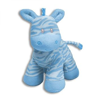 BABY TOY ZEBRA - BLUE