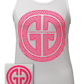 Girlie Girl Originals GGO Logo Tank Comfort Colors White Bright Tank Top
