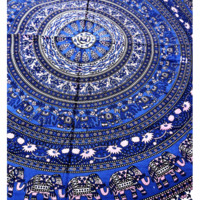 Floral Indian Mandala Tapestry Wall Hanging Bohemian Bedspread Beach Throw