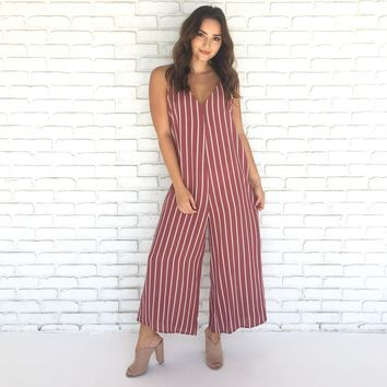 Jumpsuit for Joy in Marsala
