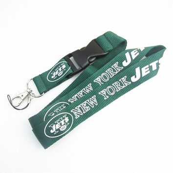 New York Jets Lanyard Neck Strap For ID Pass Card Badge Gym Key Mobile Phone USB Holder DIY Hang Rope Lanyard Sport Keychain