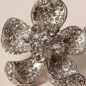 Large Rhinestone Statement Ring