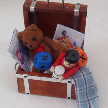 Dolls House Miniatures - Boys Toy Chest