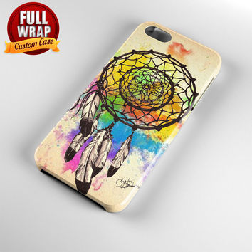 Water Color Dream Catcher Full Wrap Phone Case For iPhone, iPod, Samsung, Sony, HTC, Nexus, LG, and Blackberry
