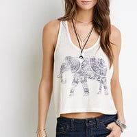 Elephant Graphic Burnout Tank