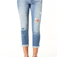 bebe Womens Surfside Repair Jeans Rag N Repair Wash