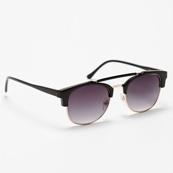 PacSun Modern 50 Fifty Black Sunglasses - Mens Sunglasses - Black - NOSZ