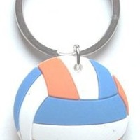 Hard Rubber Volleyball Key Chain (Mixed Colors) - 2pc (Brand New)