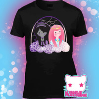 Princess Bubblegum and Marceline Pastel Goth and Fairy Kei Style T Shirt