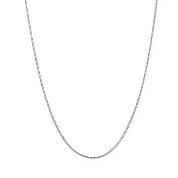 14k White Solid Gold Franco Chain Necklace, 0.9mm