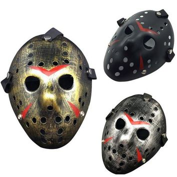 ac DCCKO2Q New Jason vs Friday The 13th Horror Hockey Cosplay Costume Halloween Killer Mask