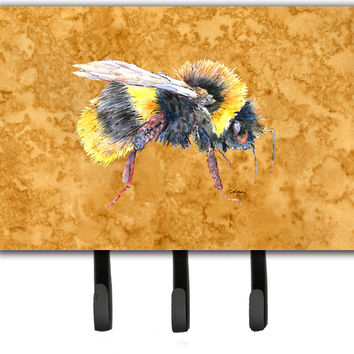 Bee on Gold Leash or Key Holder