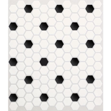 Shop American Olean Satinglo Hex 10-Pack Ice White with Black Dot Honeycomb Mosaic Ceramic Floor and Wall Tile (Common: 10-in x 12-in; Actual: 10.5-in x 12.5-in) at Lowes.com