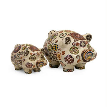 2 Piggy Banks - 60s Style