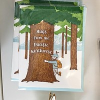 Hugs from the PNW Tree Hugger Card