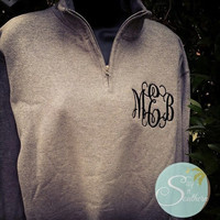 Monogram Quarter Zip Sweatshirt ..