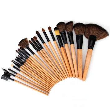 Cosmetic Face Make-up and Powder Log Brush Sets (24Pcs)