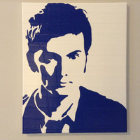 Doctor Who Duct Tape Painting 16 x 20