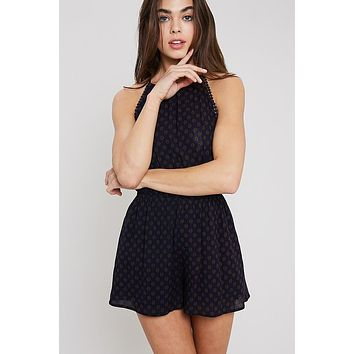 Because Of You Romper - Navy