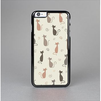 The Vintage Solid Cat Shadows Skin-Sert for the Apple iPhone 6 Plus Skin-Sert Case