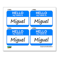 Miguel Hello My Name Is - Sheet of 4 Stickers