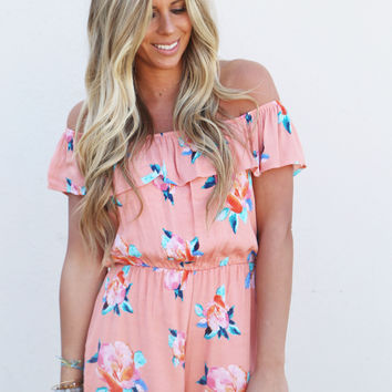There She Goes Floral Romper