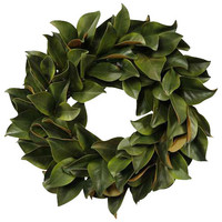 Wreath Magnolia Leaf - Traditional - Artificial Flowers - by Jane Seymour Botanicals