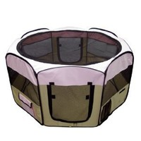 Best Pet Folding Play Pen - Medium - Pink